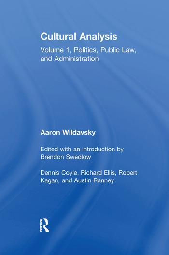 Cultural Analysis Volume 1, Politics, Public Law, and Administration book cover