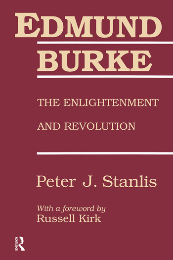 Edmund Burke The Enlightenment and Revolution book cover
