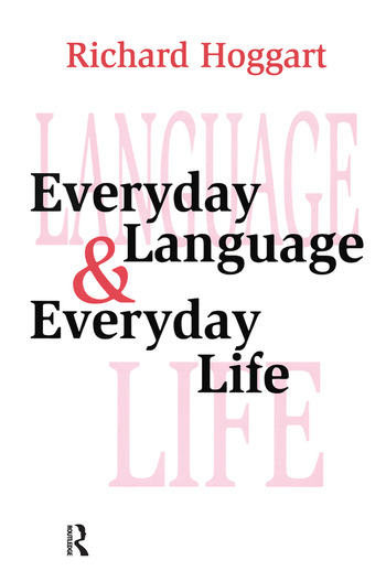 Everyday Language and Everyday Life book cover