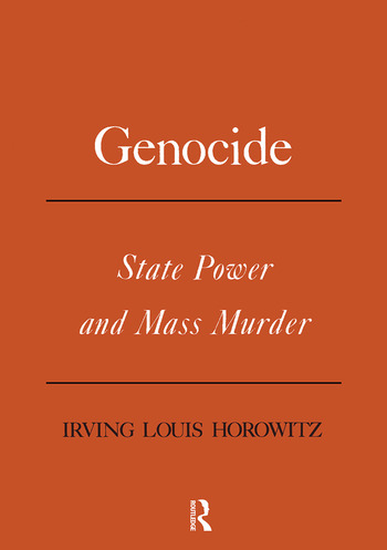 Genocide State Power and Mass Murder book cover