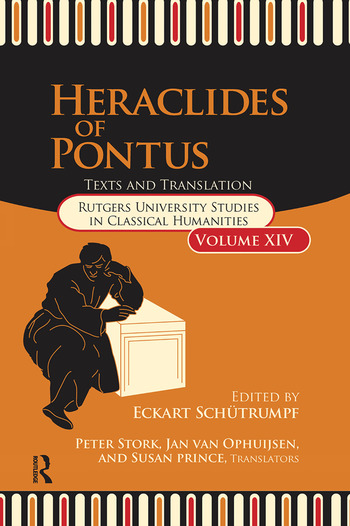 Heraclides of Pontus Text and Translation book cover