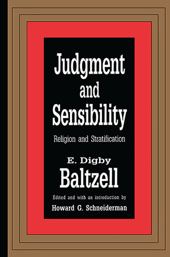 Judgment and Sensibility Religion and Stratification book cover