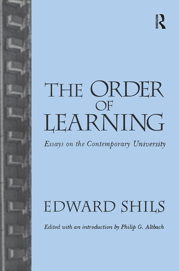 Order of Learning Essays on the Contemporary University book cover