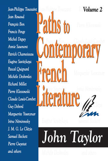 Paths to Contemporary French Literature Volume 2 book cover