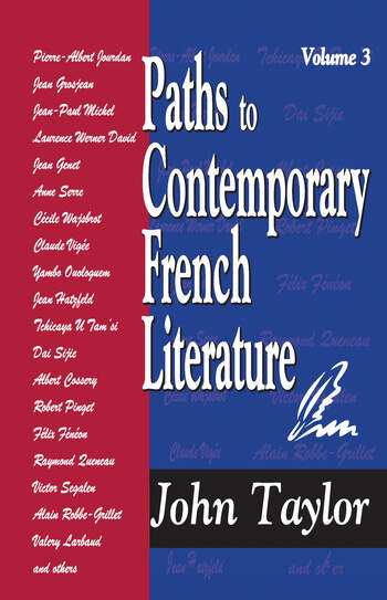 Paths to Contemporary French Literature Volume 3 book cover