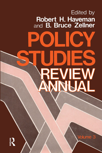 Policy Studies: Review Annual Volume 3 book cover