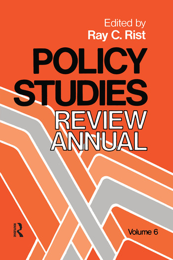 Policy Studies: Review Annual Volume 6 book cover