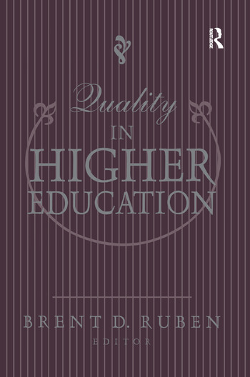 Quality in Higher Education book cover