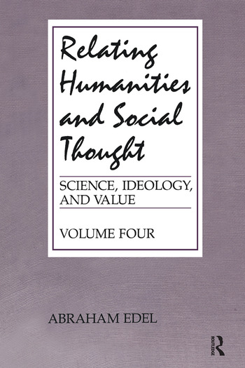 Relating Humanities and Social Thought book cover