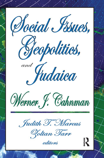 Social Issues, Geopolitics, and Judaica book cover