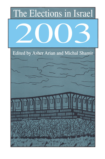 The Elections in Israel 2003 book cover