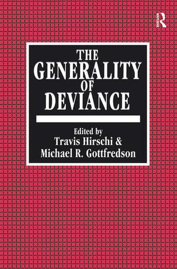 The Generality of Deviance book cover