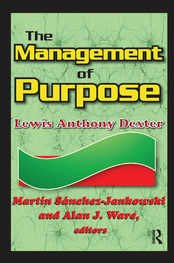 The Management of Purpose book cover