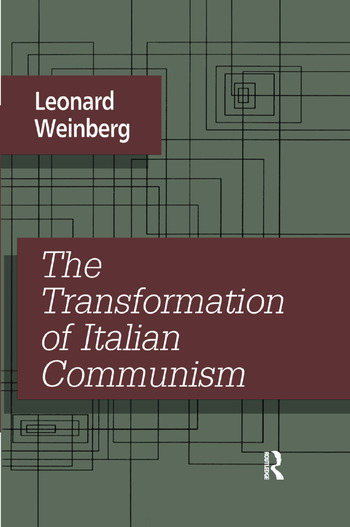 The Transformation of Italian Communism book cover