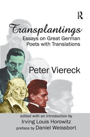 Transplantings Essays on Great German Poets with Translations book cover