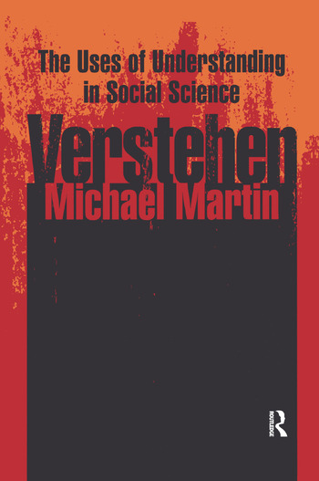 Verstehen The Uses of Understanding in the Social Sciences book cover