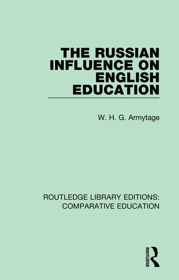 The Russian Influence on English Education book cover