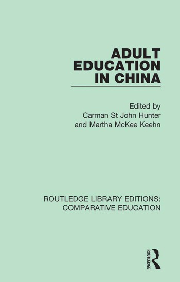 Adult Education in China book cover