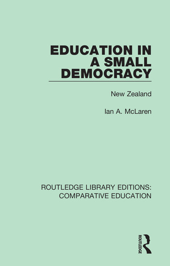 Education in a Small Democracy New Zealand book cover