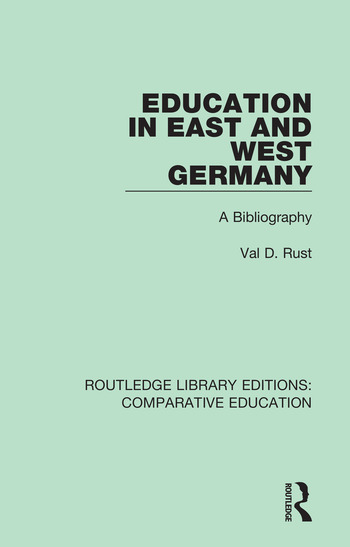 Education in East and West Germany A Bibliography book cover