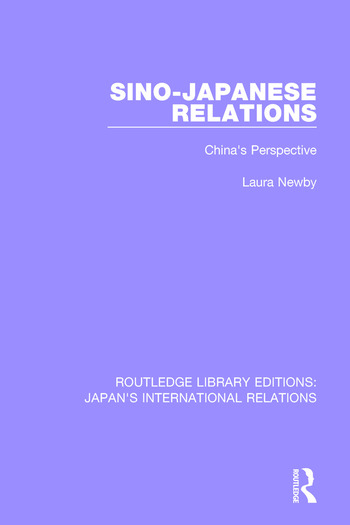 Sino-Japanese Relations China's Perspective book cover