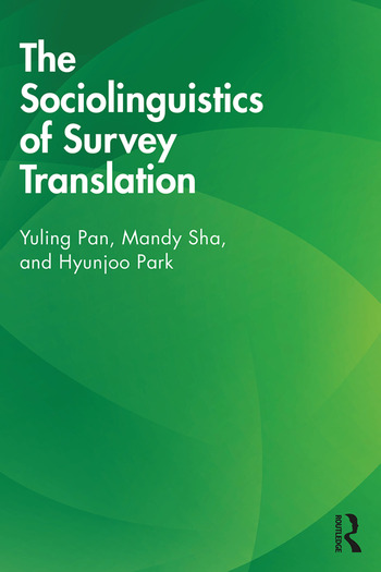 The Sociolinguistics of Survey Translation book cover