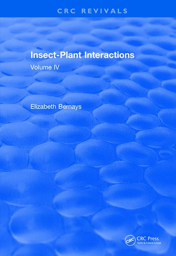 Insect-Plant Interactions (1992) Volume IV book cover