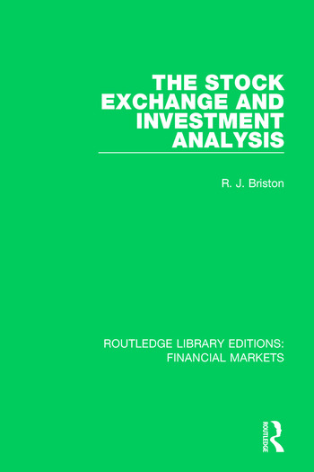 The Stock Exchange and Investment Analysis book cover
