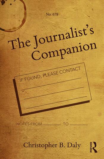 The Journalist's Companion book cover