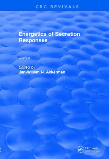 Revival: Energetics of Secretion Responses (1988) Volume II book cover