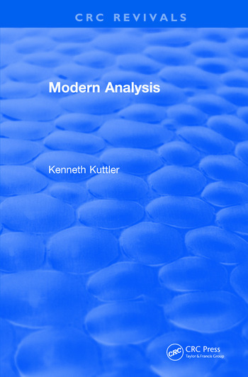 Revival: Modern Analysis (1997) book cover