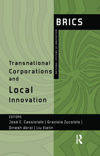Transnational Corporations and Local Innovation BRICS National Systems of Innovation book cover