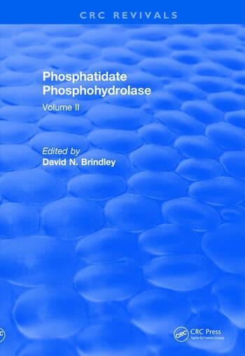 Revival: Phosphatidate Phosphohydrolase (1988) Volume II book cover