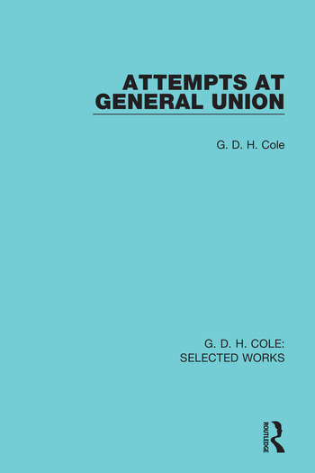 Attempts at General Union book cover