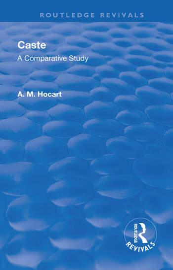 Revival: Caste (1950) A Comparative Study book cover