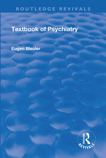 Revival: Textbook of Psychiatry (1924) book cover