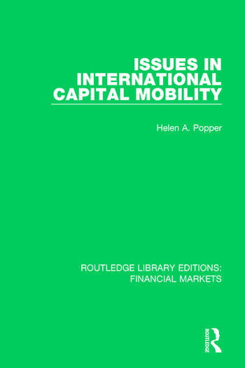 Issues in International Captial Mobility book cover