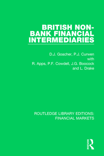 British Non-Bank Financial Intermediaries book cover