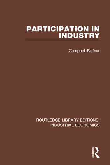 Participation in Industry book cover