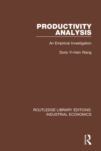 Productivity Analysis An Empirical Investigation book cover