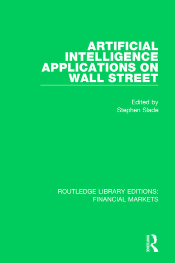 Artificial Intelligence Applications on Wall Street book cover