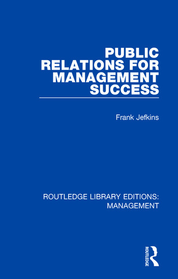 Public Relations for Management Success book cover