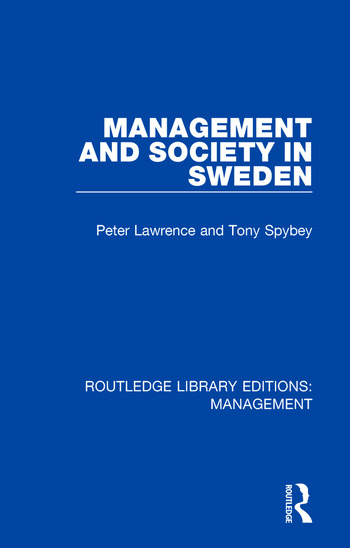 Management and Society in Sweden book cover