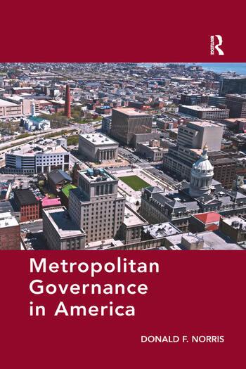 Metropolitan Governance in America book cover