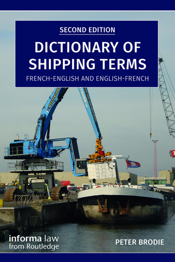 Dictionary of Shipping Terms French-English and English-French book cover