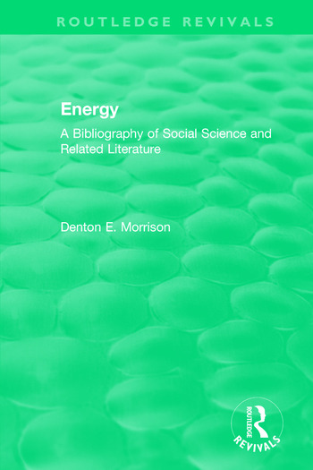 Routledge Revivals: Energy (1975) A Bibliography of Social Science and Related Literature book cover