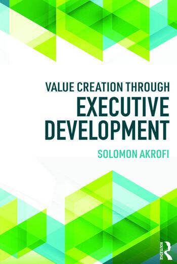 Value Creation through Executive Development book cover