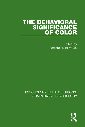 The Behavioral Significance of Color book cover