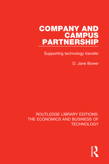 Company and Campus Partnership Supporting Technology Transfer book cover