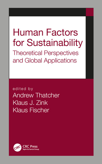 Human Factors for Sustainability Theoretical Perspectives and Global Applications book cover